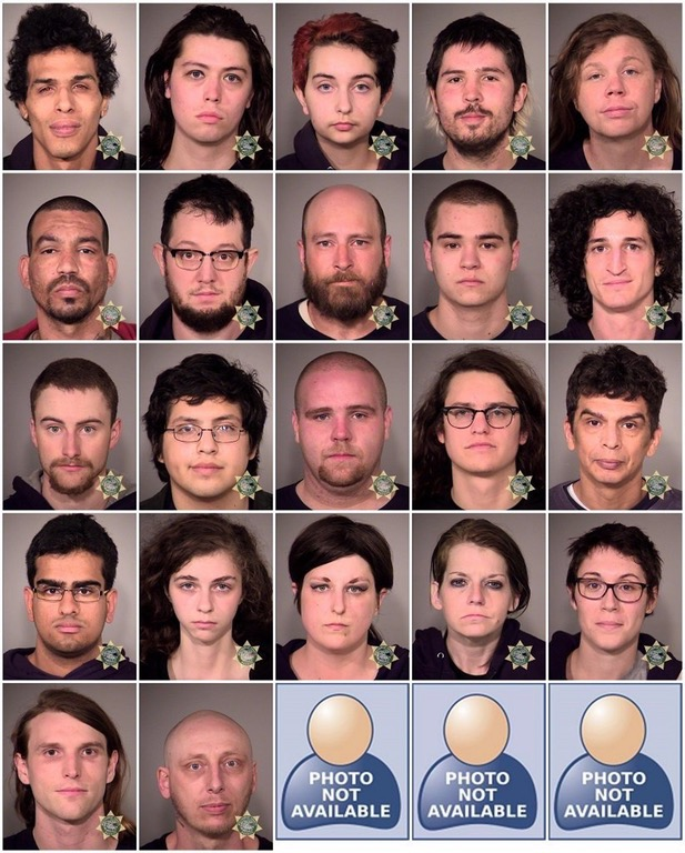 ANTIFA arrests were made in Portland Oregon… Here are their mugshots